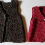 Tricot facile pull sans manche