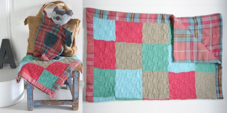 Tricoter plaid carreaux