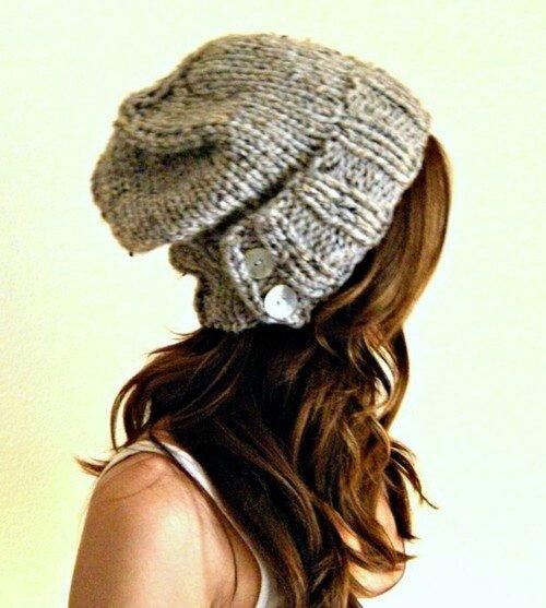 Tricot bonnet loose