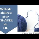 Tricot changer pelote aiguille circulaire