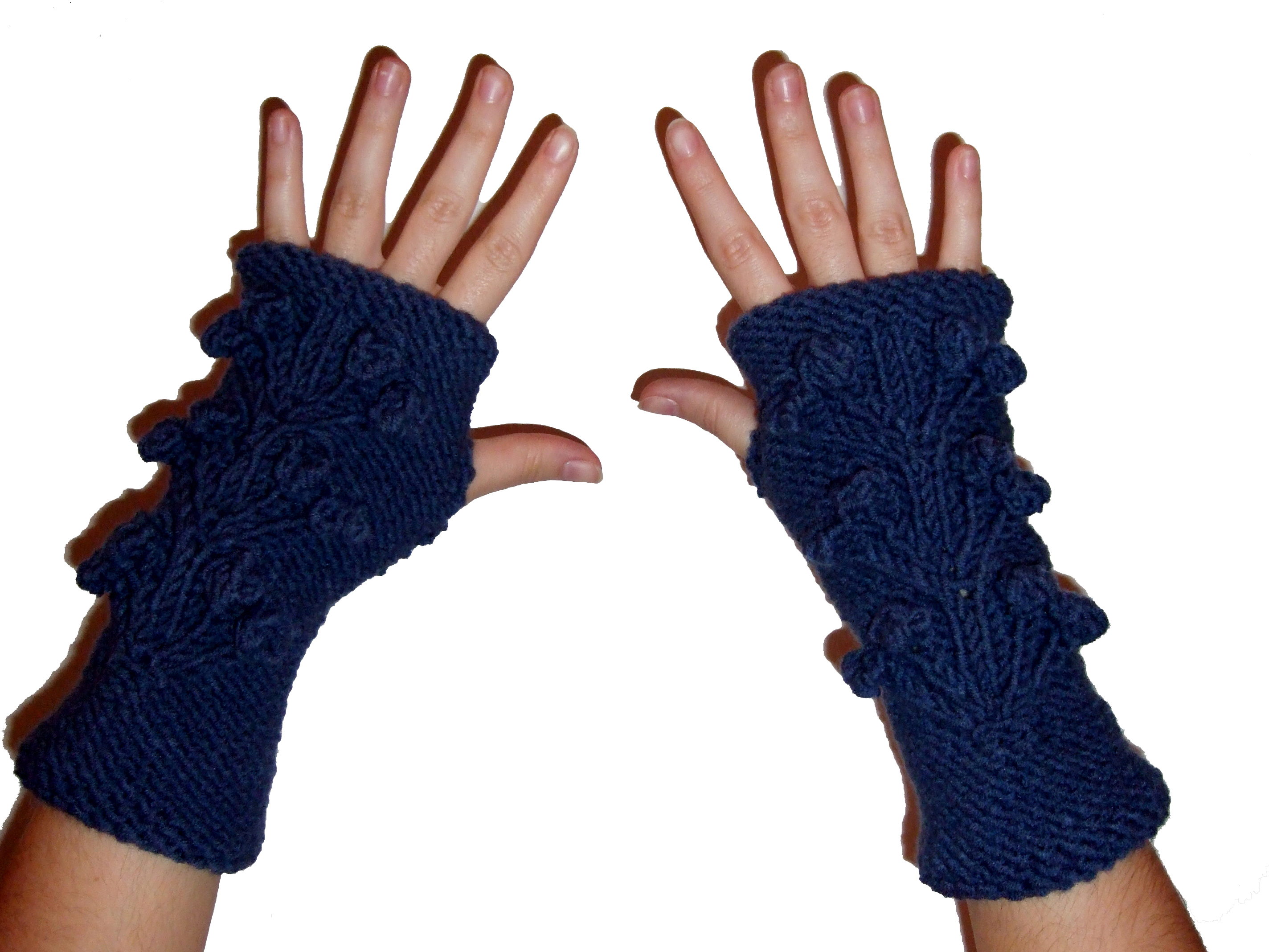 Tricoter les doigts des gants