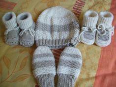 Apprendre tricoter chaussons pour bebe