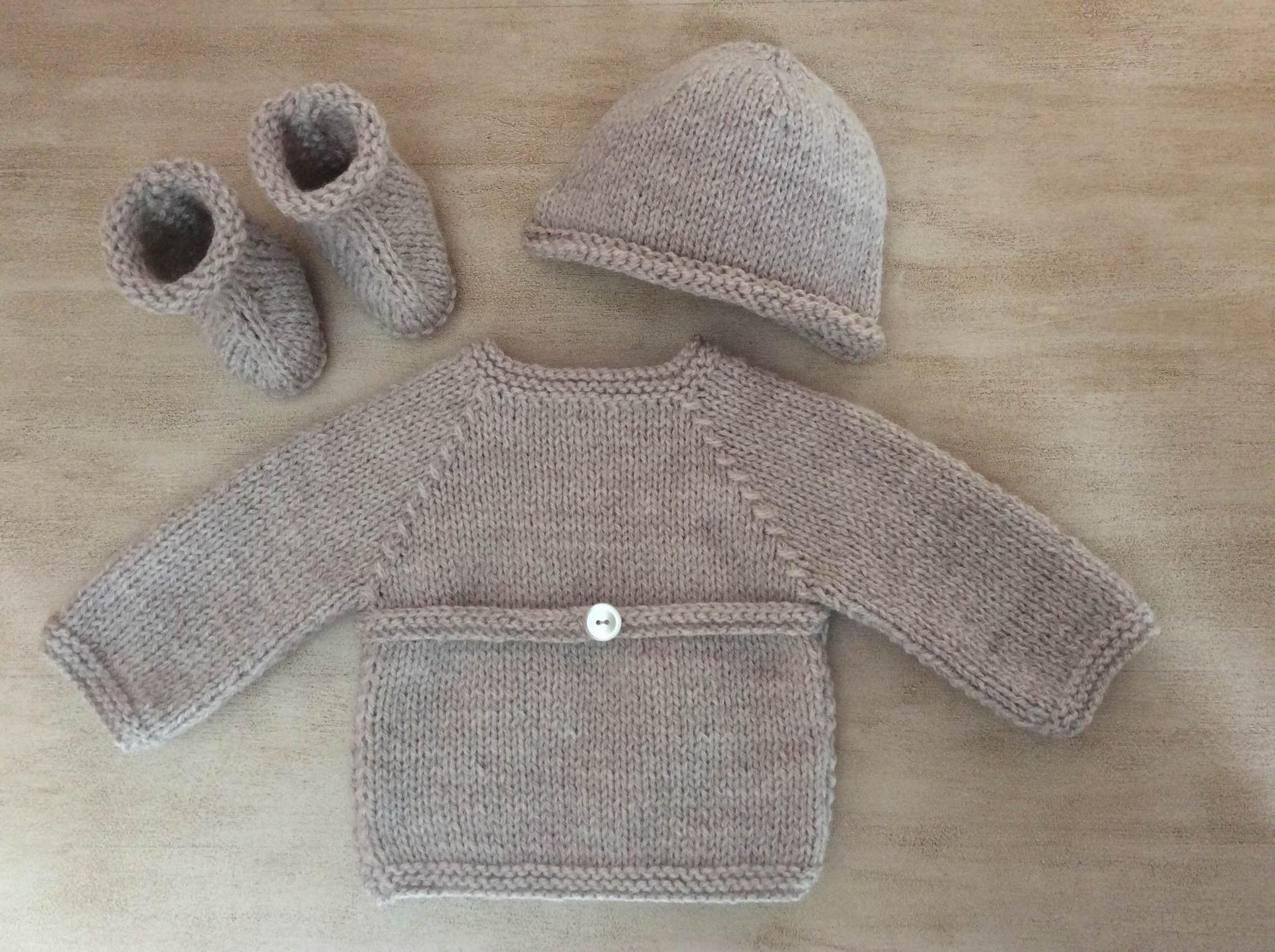 Brassière chausson tricot gratuit