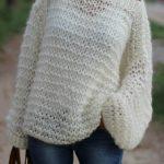 Tricot gilet femme grosse laine