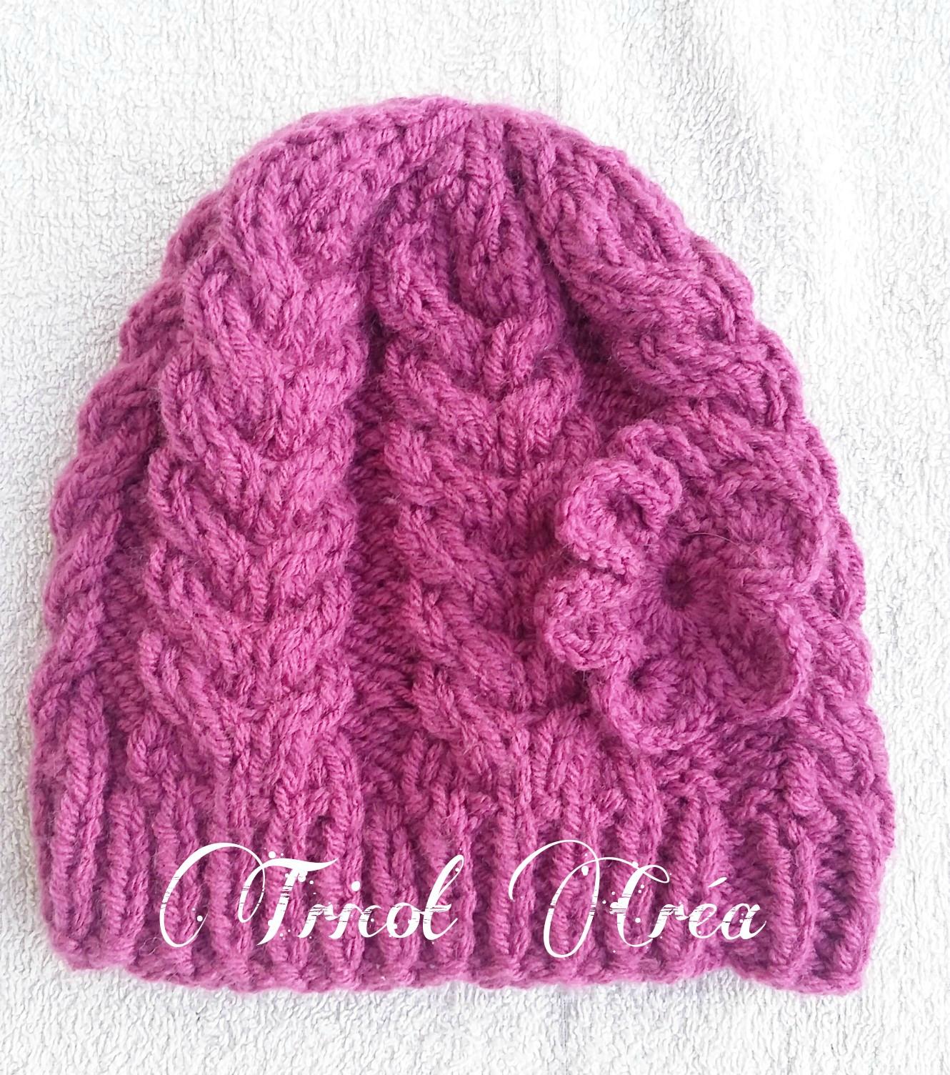 Tricot bonnet bebe pour debutant