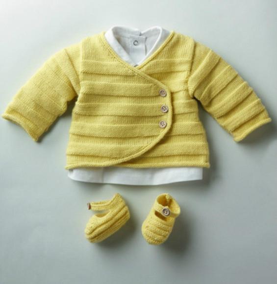 Tricot bébé gratuit modèle