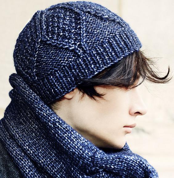 Tricot bonnet homme modele gratuit