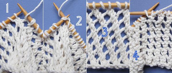 Point tricot tres ajoure
