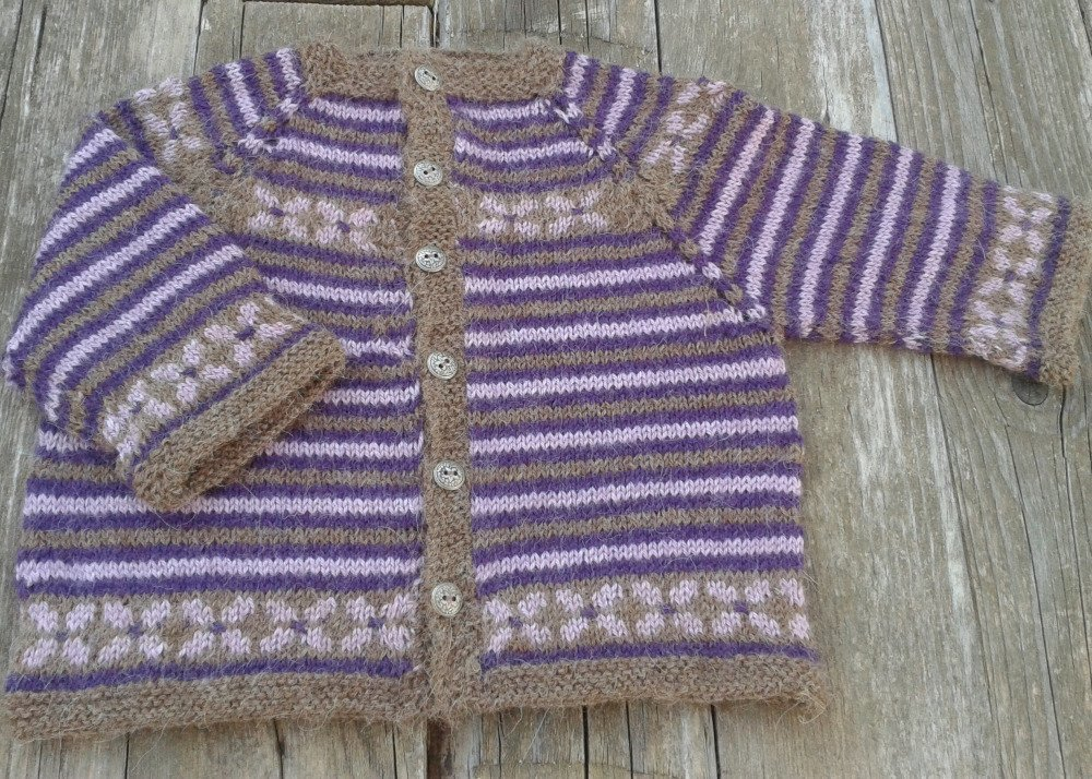 Brassiere tricot main