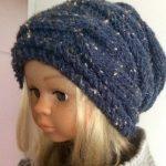 Tricot bonnet pour femme