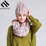 Tricot bonnet echarpe femme