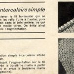 Tricot tuto augmentation intercalaire
