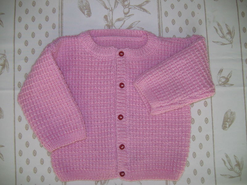 Tricot gilet fille 3 ans