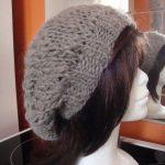 Tricot bonnet rasta femme