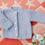 Tuto tricot gilet bébé naissance