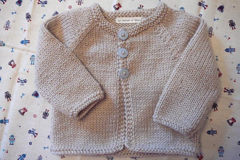 Tricoter gilet pour bébé facile