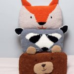 Coussin tricot animaux