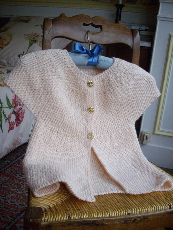 Tuto tricot brassiere rang raccourci
