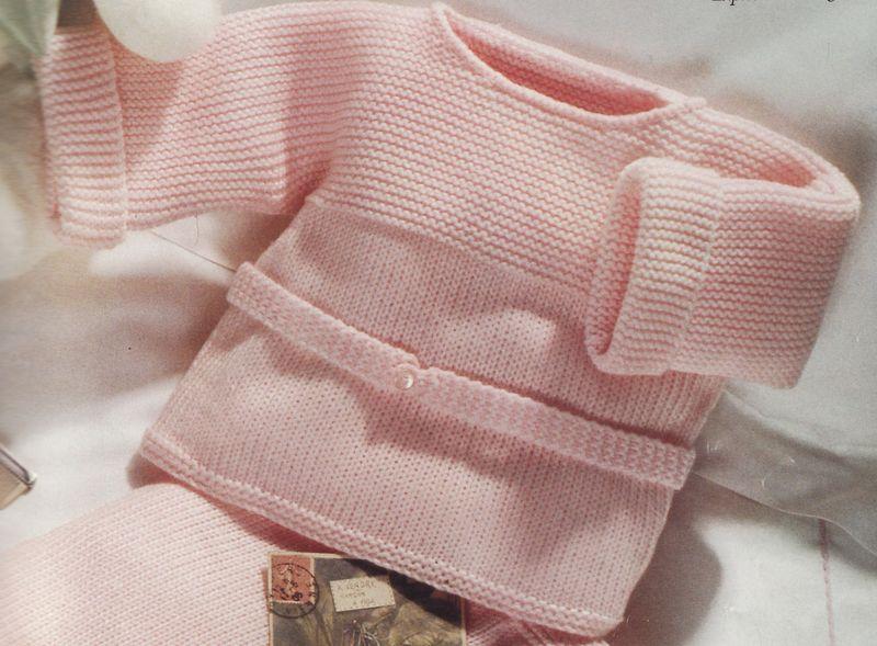 Modele tricot brassiere 1er age