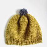 Tricot bonnet femme point mousse