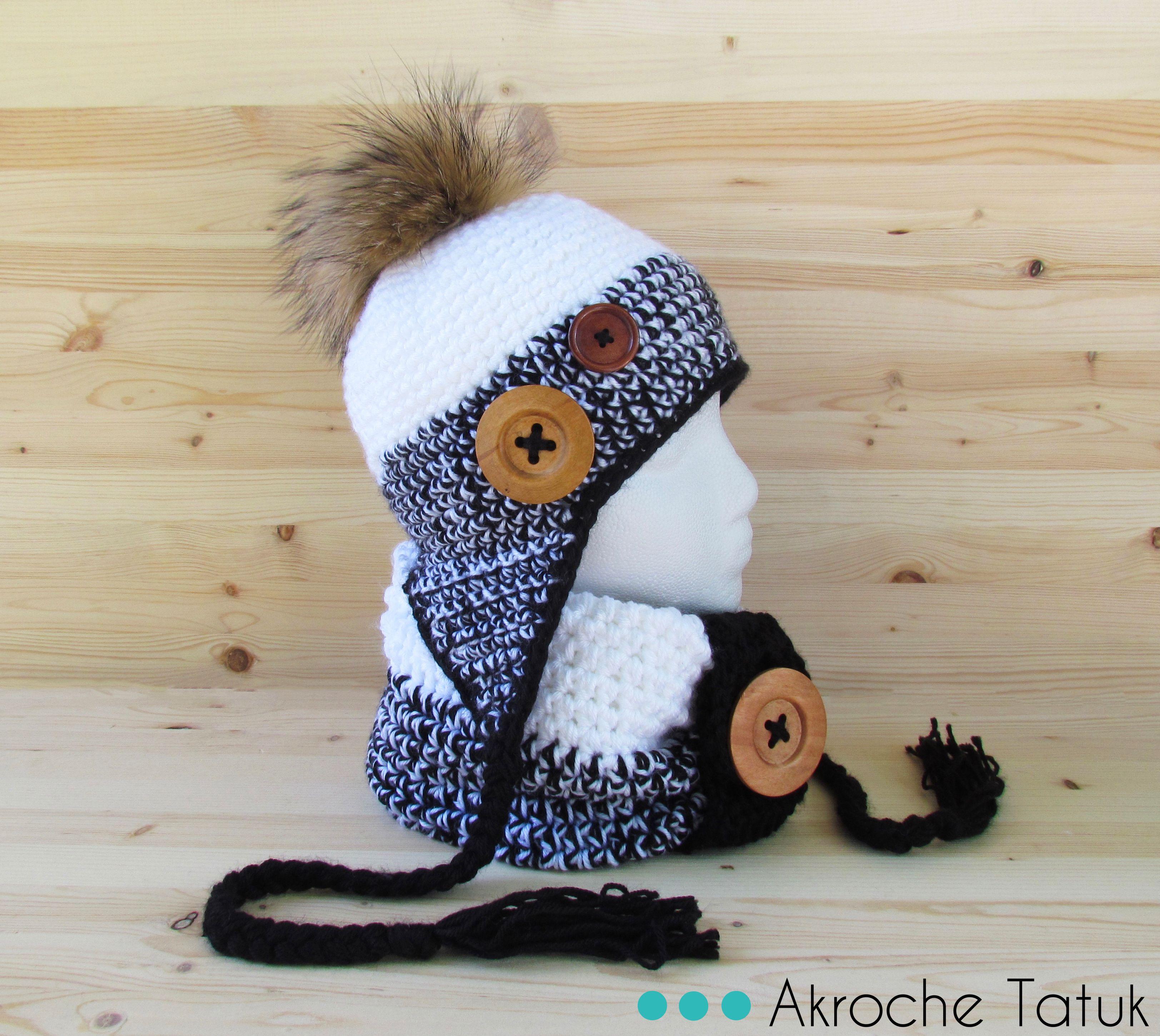Patron tricot tuque animaux