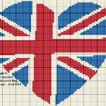 Grille tricot drapeau anglais