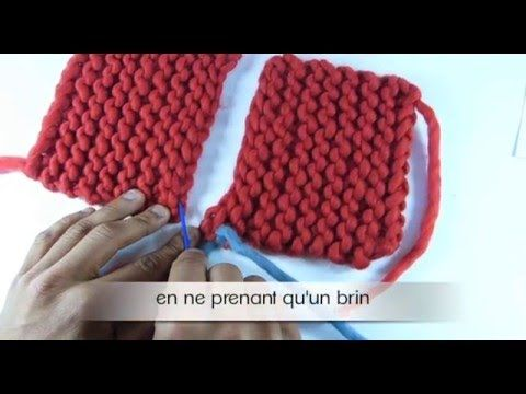 Assemblage tricot invisible point mousse