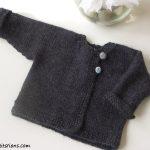 Patron tricot gilet bébé gratuit