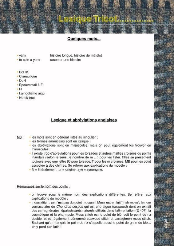 Conversion tricot anglais français