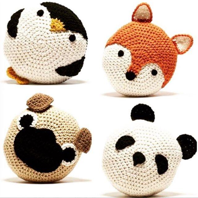Coussins animaux tricot et crochet