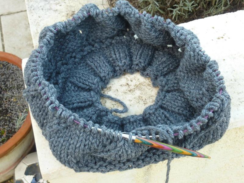 Tricoter avec aiguilles circulaires technique