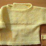 Tricoter une brassière bébé simple