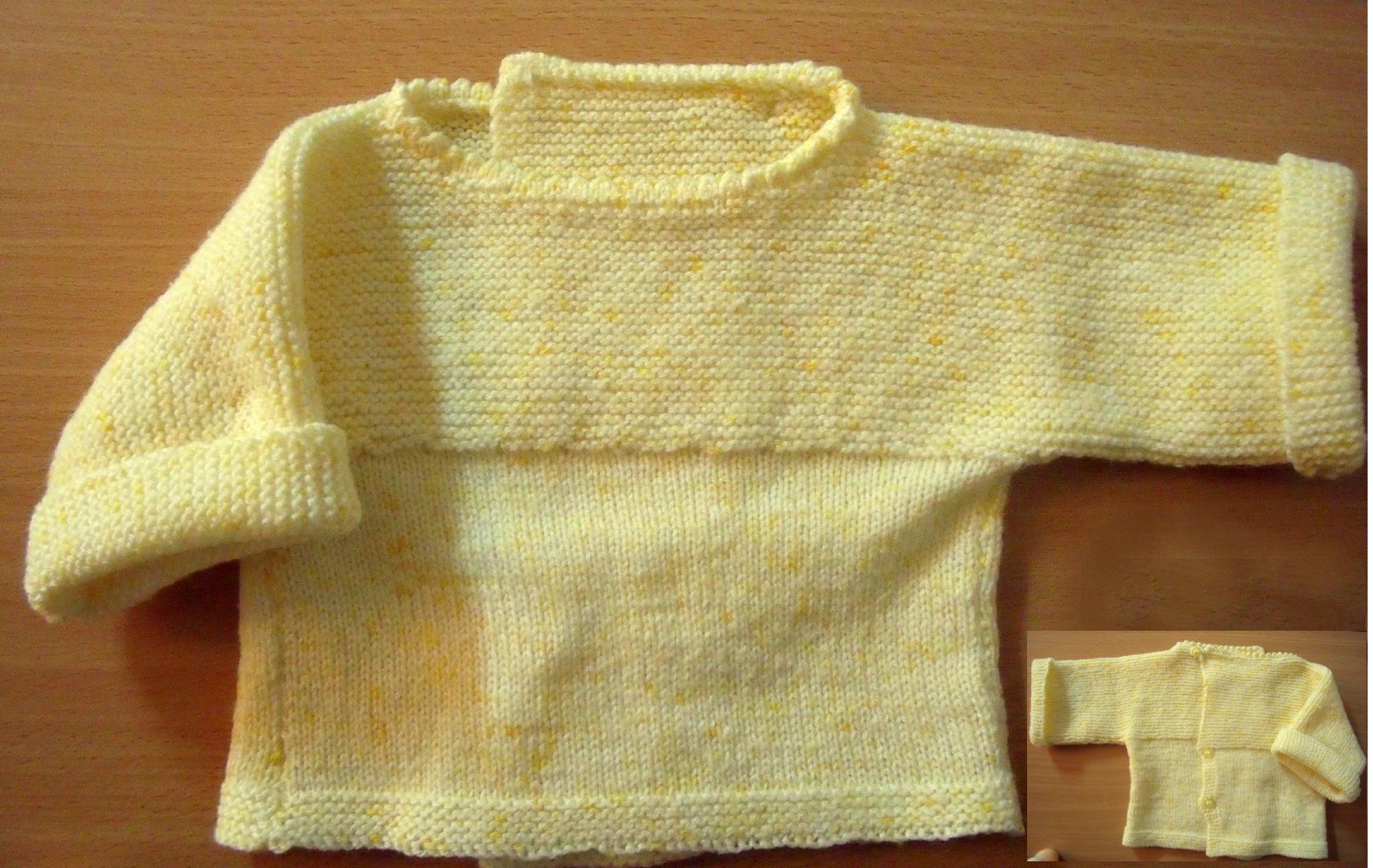 Tricoter une brassière d'un seul tenant