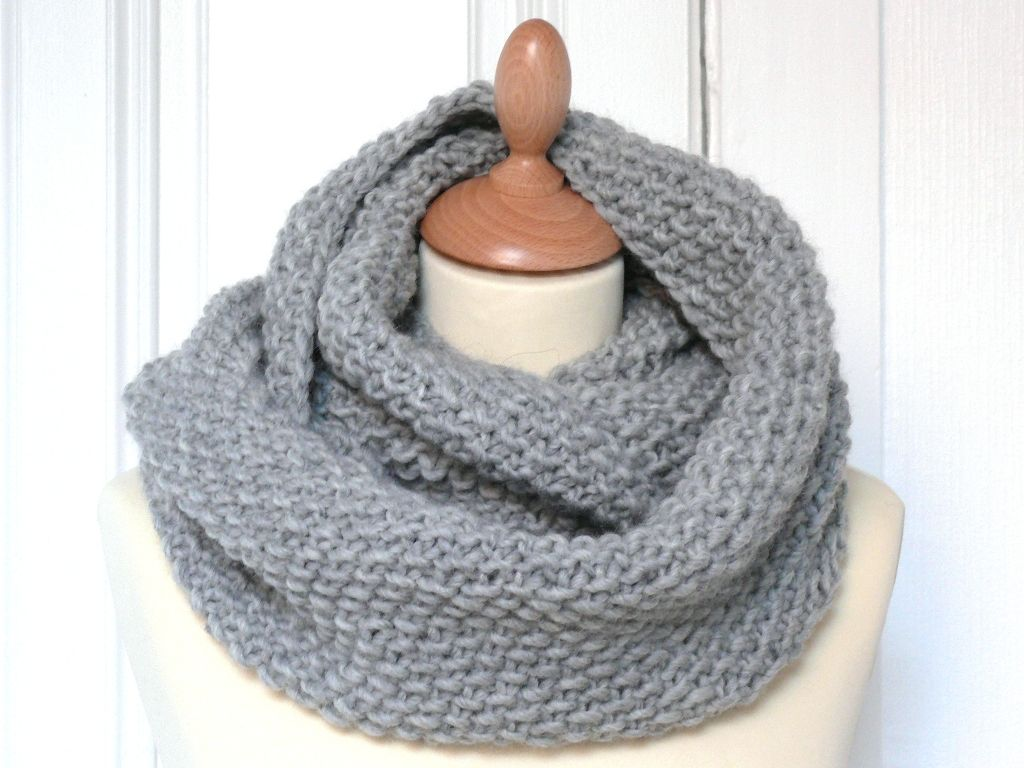 Tricot aiguille circulaire snood
