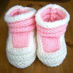 Apprendre tricoter chausson bébé