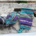 Bas tricot sur aiguille circulaire