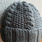 Tricot bonnet femme torsade
