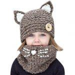 Tricot bonnet chat bébé patron
