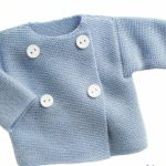 Modele tricot gilet bebe point mousse