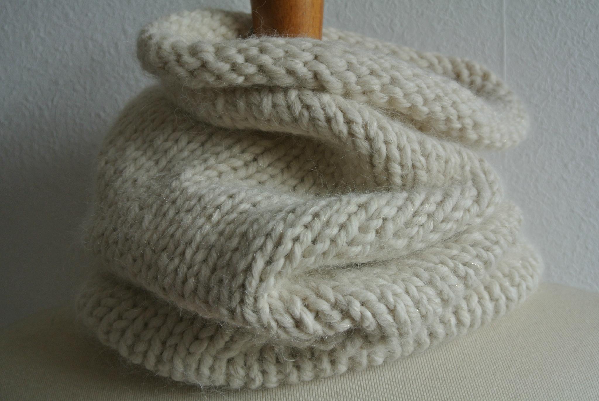 Snood tricot aiguille 6