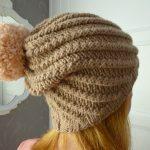 Tuto tricot bonnet tombant femme