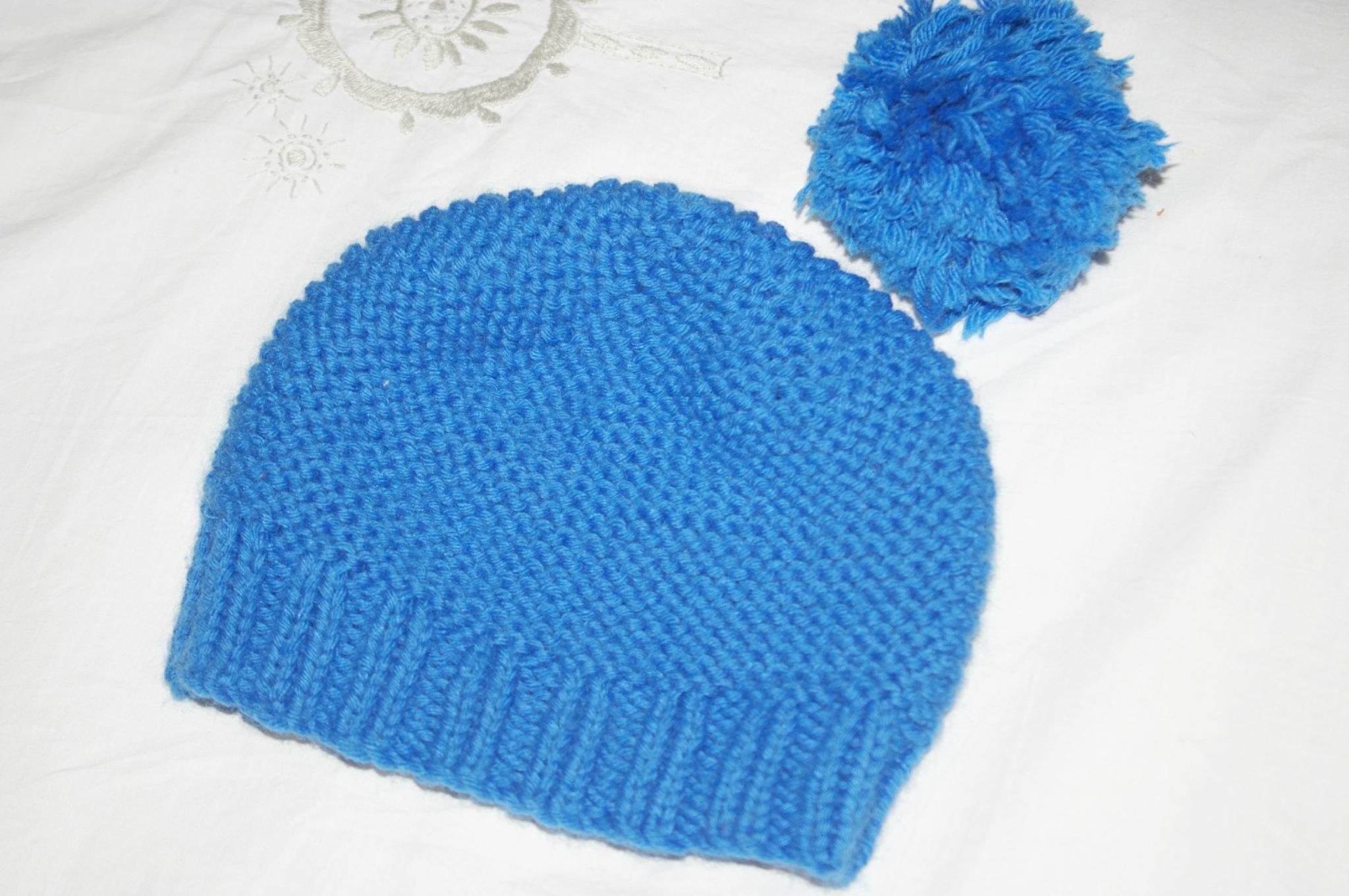 Tricoter bonnet bébé facile point mousse phildar