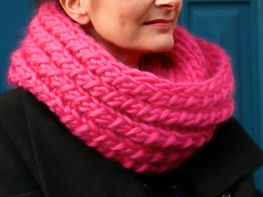 Tricoter echarpe aiguille 15