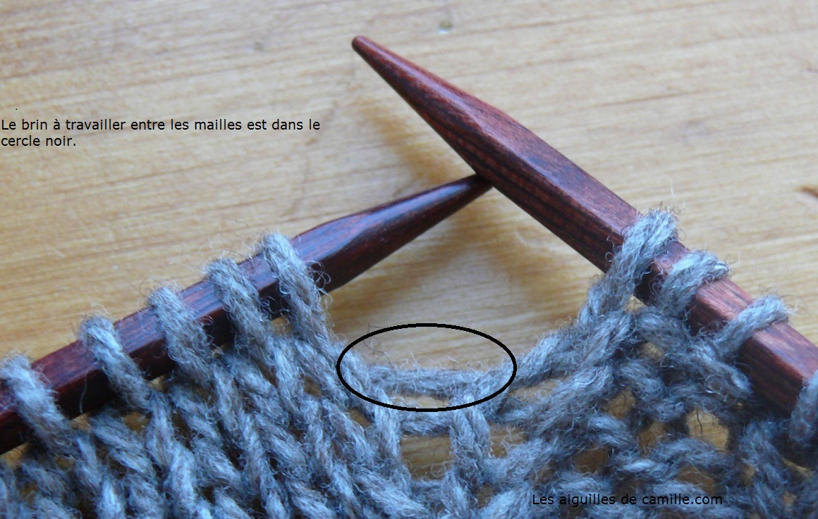 Tuto tricot augmentation maille