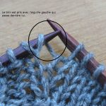 Tricot augmentation de maille point mousse