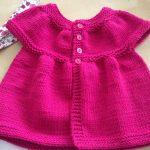 Tuto tricot gilet bebe fille
