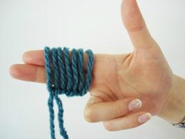 Tricoter avec deux doigts
