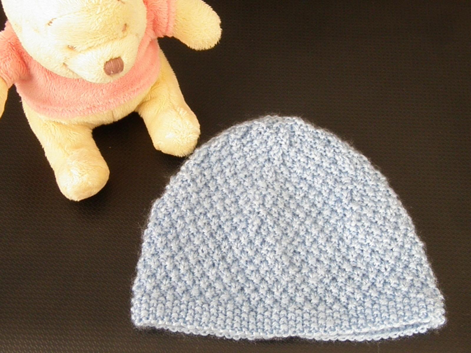 Tuto tricot bonnet bébé naissance