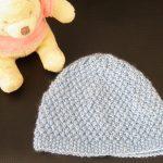 Tricot bonnet pour bebe naissant