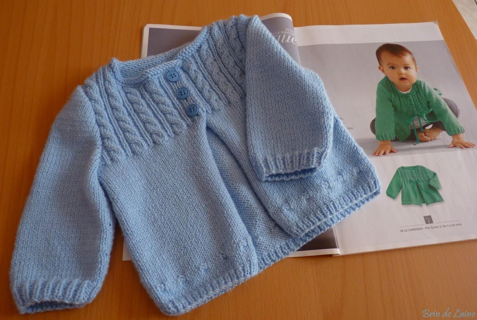 Pinterest tricot bebe gratuit